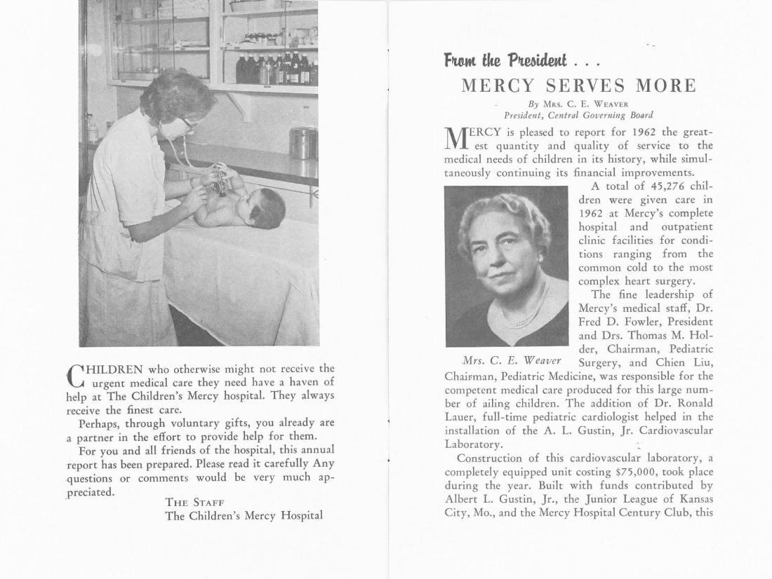 1962 report letter