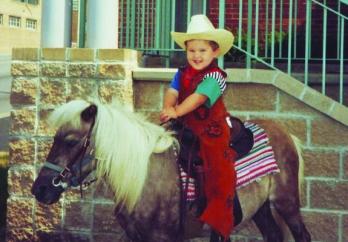 Nick on horseback