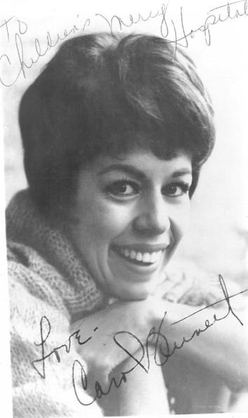 carol burnett authograph