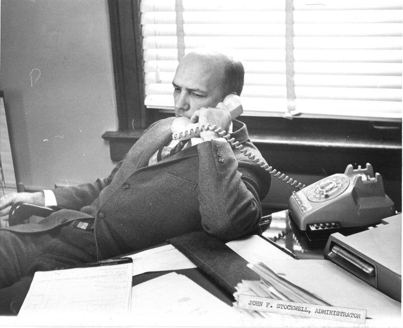 stockwell on phone